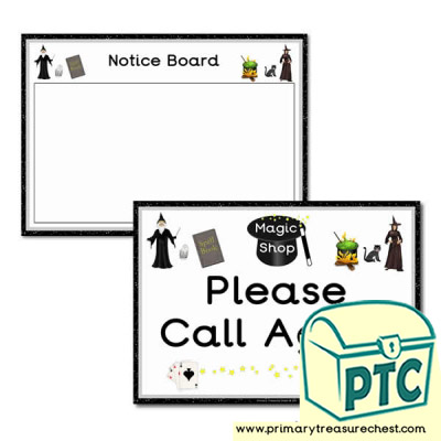 Role Play Magic Shop Signs