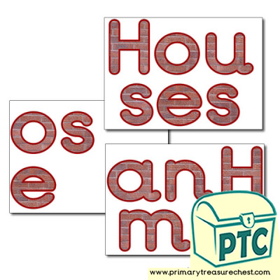 'Houses and Homes' Display Letters