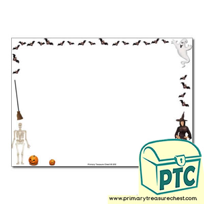 Halloween Landscape Page Border /Writing Frame (no lines)
