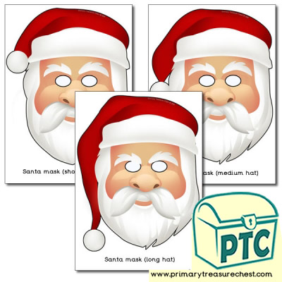 Santa Masks Role Play Masks