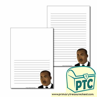 Martin Luther King Jr Themed  Page Border/Writing Frame (narrow lines)