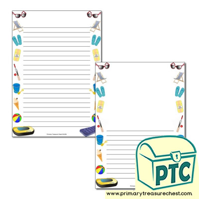 Seaside Shop Page Border/Writing Frame (narrow lines)