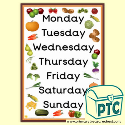 Harvest Days of The Week A3 Poster
