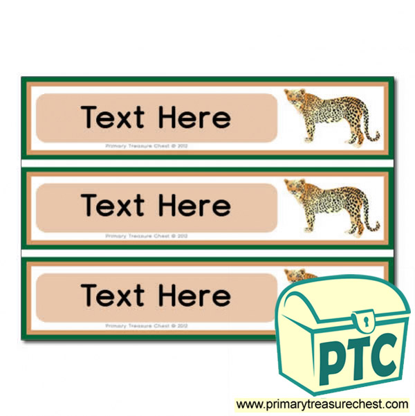 Cheetah Pupil Drawer Labels (Large)