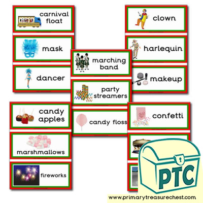 Carnival Themed Flashcards