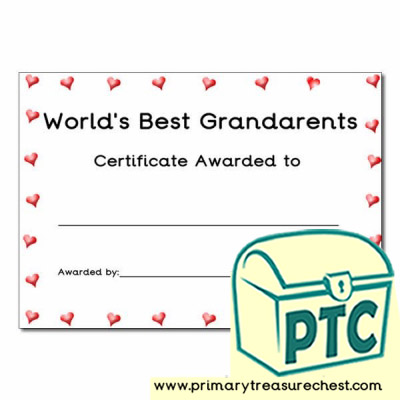 Grandparents' Day Certificate