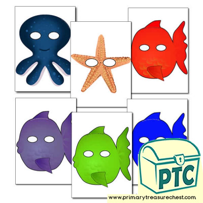 Sea Life Themed Role Play Masks