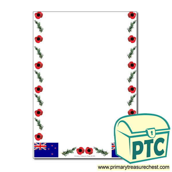 Anzac Day Themed Page Border - No lines