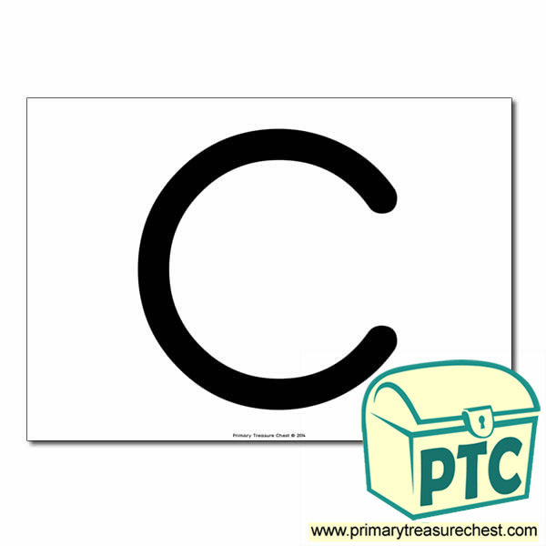 'C' Uppercase Letter A4 poster  (No Images)