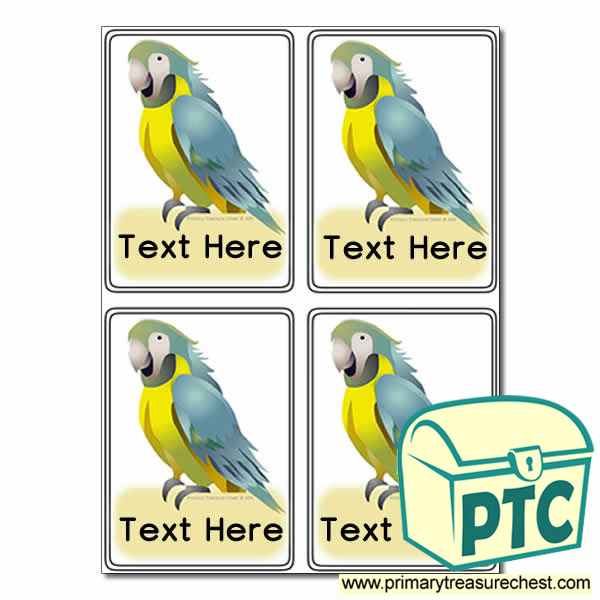 Parrot Themed Registration Name Cards
