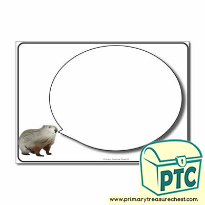 Groundhog Day Themed Speech Bubble Worksheet
