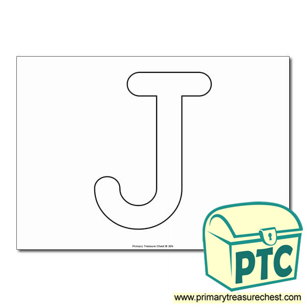Uppercase Letter 'j' Bubble  A4 Poster - No Images.