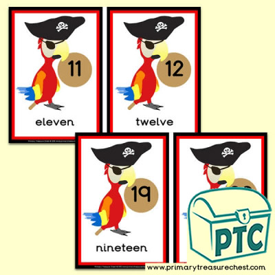 Pirate parrot  Number Line 11 to 20