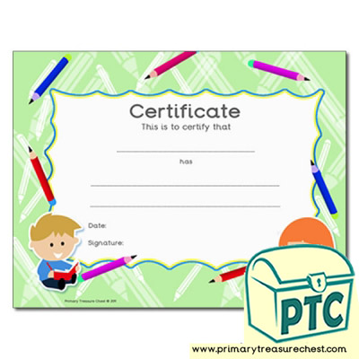 Writing Themed Certificate