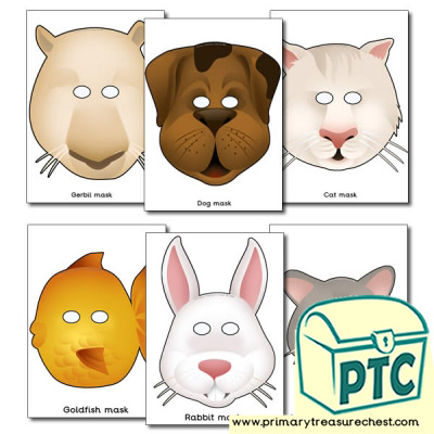Pet Animal Role Play Masks