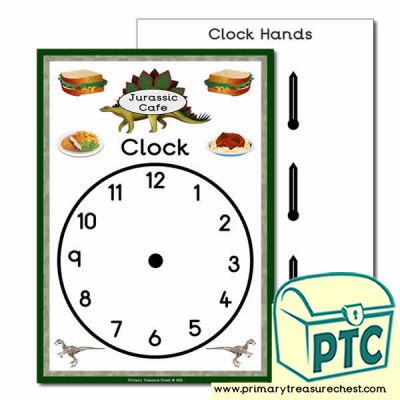 Role Play Dinosaur Cafe Clock
