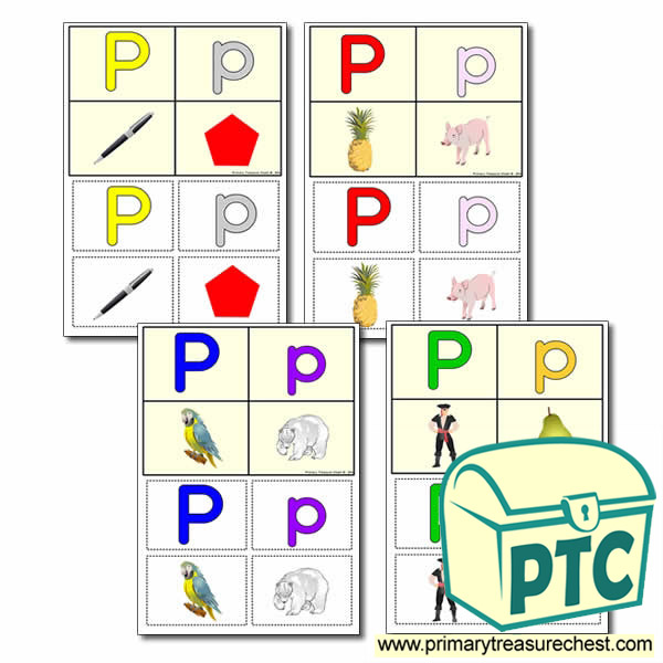 FREE  'p' Themed Lotto/Bingo Game