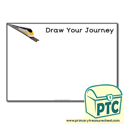 Draw Your Train Journey Worksheet