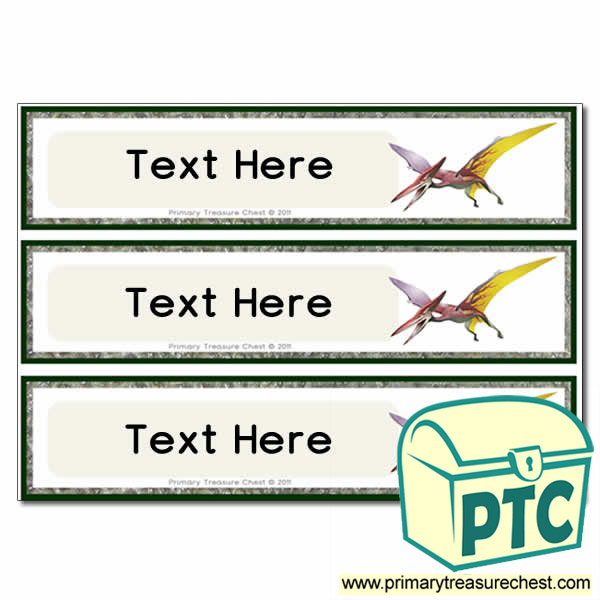 Pterodactyl Dinosaur Themed Pupil Drawer Labels (Large)
