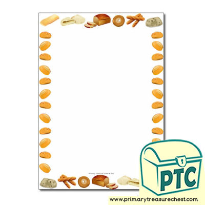 Bread Themed Page Borders/Writing Frames (no lines)