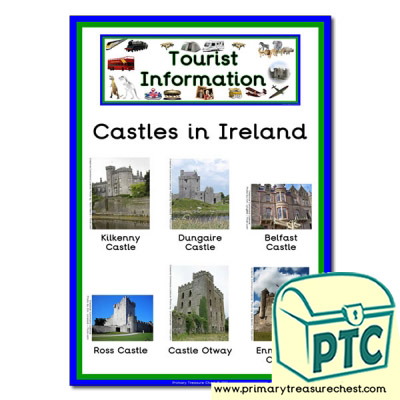 Role Play Tourist Information Castles in Ireland Poster