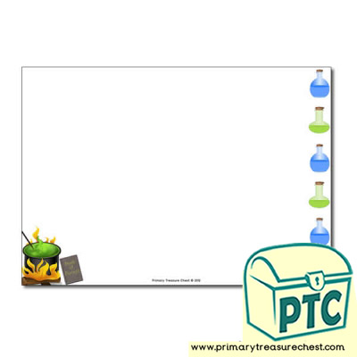 Magic Potion Landscape Page Border /Writing Frame (no lines)