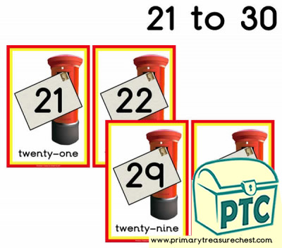 Postbox Number Line 21-30