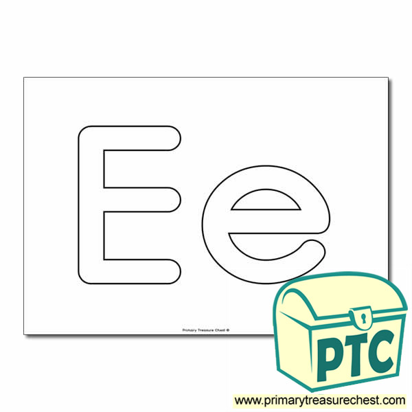 'Ee' Upper and Lowercase Bubble Letters A4 Poster - No Images.