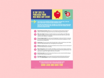 Red Nose Day Publicity Tips