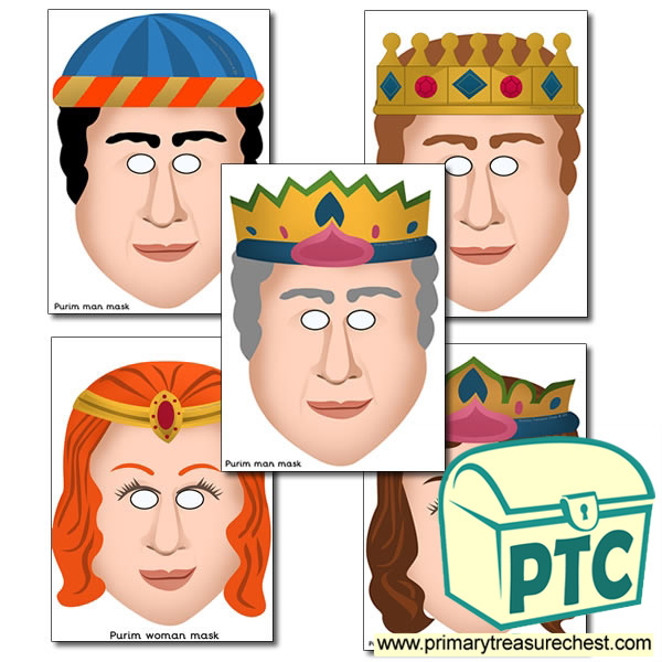 Purim Themed Role Play Masks
