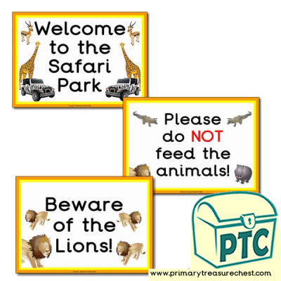 Safari Role Play Signs/Posters