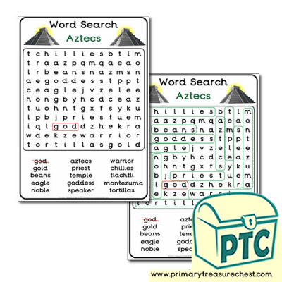 The Aztec's Word Search