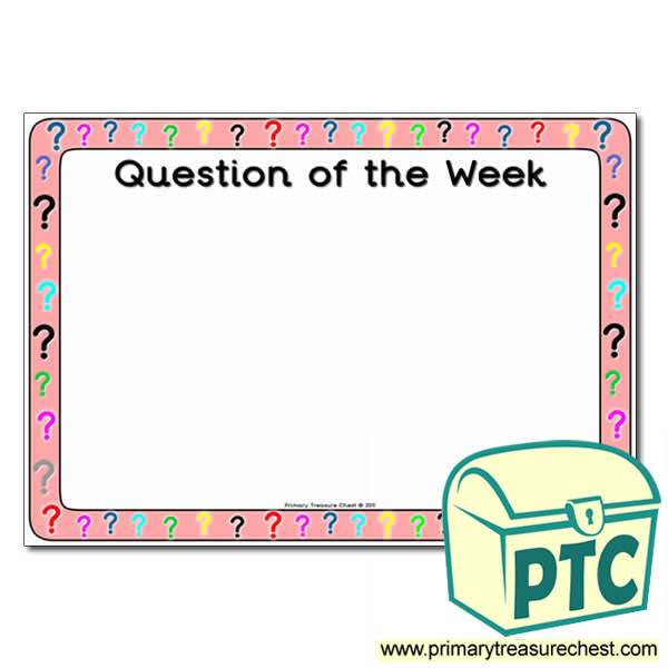 Question of the Week Poster