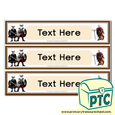 Vikings Themed Pupil Drawer Labels (Large)