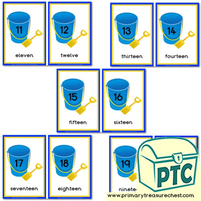 Bucket and Spade Number Line 11-20