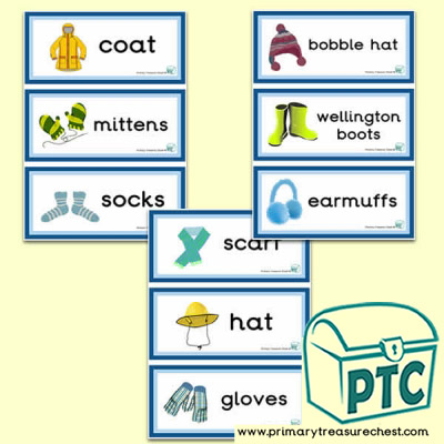 Winter Clothes Themed Flashcards