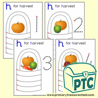 Harvest Themed Numeracy and Pencil Control