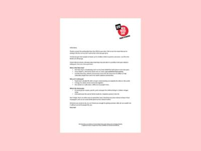 Letter to Parents about Red Nose Day