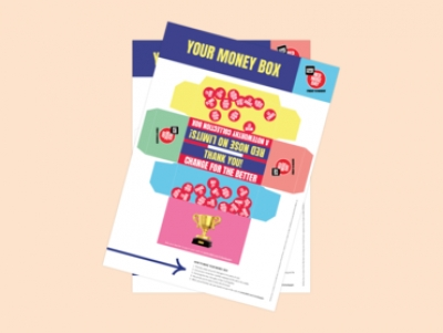 Red Nose Day Money Box Template