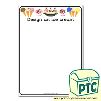 Design your Own Ice Cream Worksheet