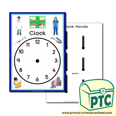 Doctors' Surgery Themed Clock