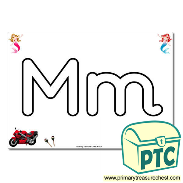'Mm' Upper and Lowercase Bubble Letters A4 Poster, containing high quality, realistic images