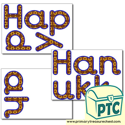 'Happy Hanukkah' Display Letters