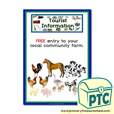 Tourist Information Community Farm Themed Poster