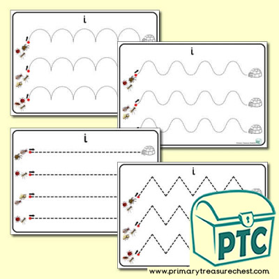 'Ii Themed Pre-Writing Patterns Activity Sheets