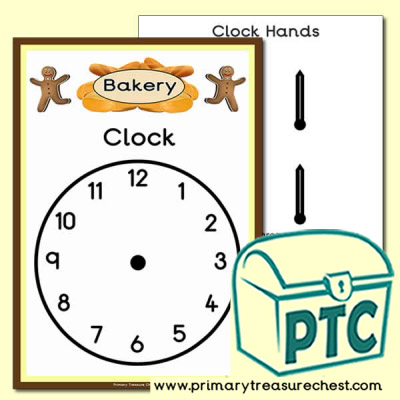 Bakery Role Play Shop Clock