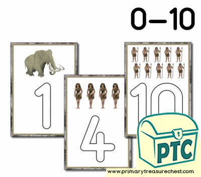 Mammoth Themed Playdough Mat 0-10