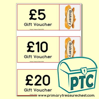 Bakery Shop Shopping vouchers