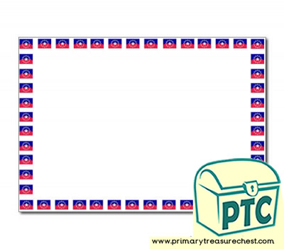 Juneteenth Flag Landscape Page Border/Writing Frame (no lines)