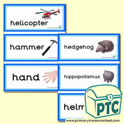 Letter 'h'  Themed Flashcards